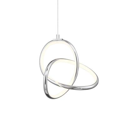 Vornado 125-Watt Equivalent Integrated LED Chrome Mini Pendant with Acrylic Shade