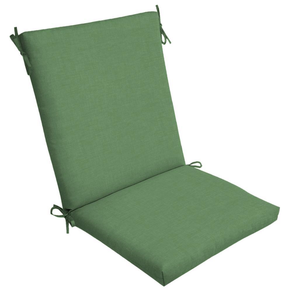 Moss Leala Texture Outdoor High Back Dining Chair Cushion