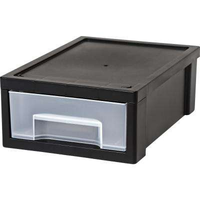 6.89 in. x 3.63 in. Black Desktop Small Stacking Drawer