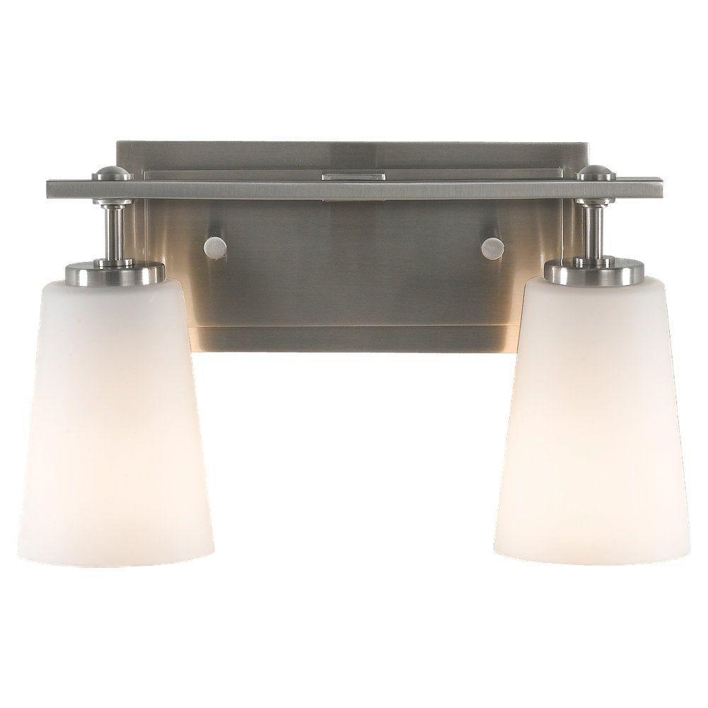 Sunset Drive 2-Light Brushed Steel Vanity Light