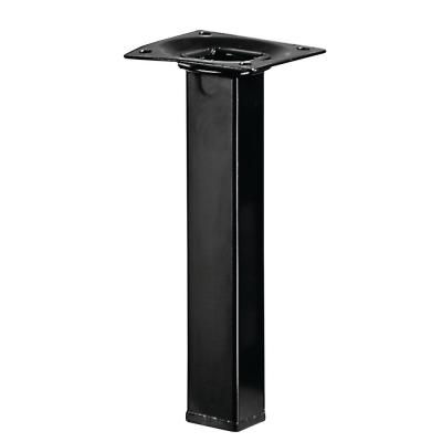 5.9 inch Black Square Table Leg Set (Set of 4)