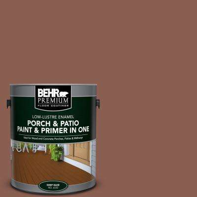 1 gal. #S170-6 Red Curry Low-Lustre Interior/Exterior Paint and Primer In One Porch and Patio Floor Paint