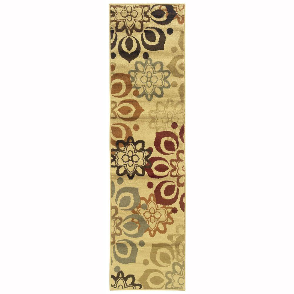 Kitchen Furniture Tralee: Oriental Weavers Grace Tralee Cream 1 Ft. 10 In. X 7 Ft. 3