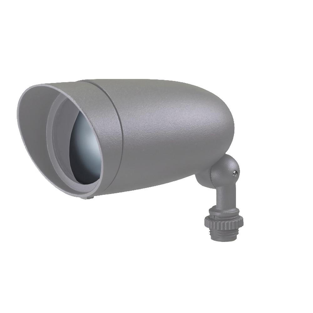 6-Watt Light Gray Outdoor Integrated LED Flood Light