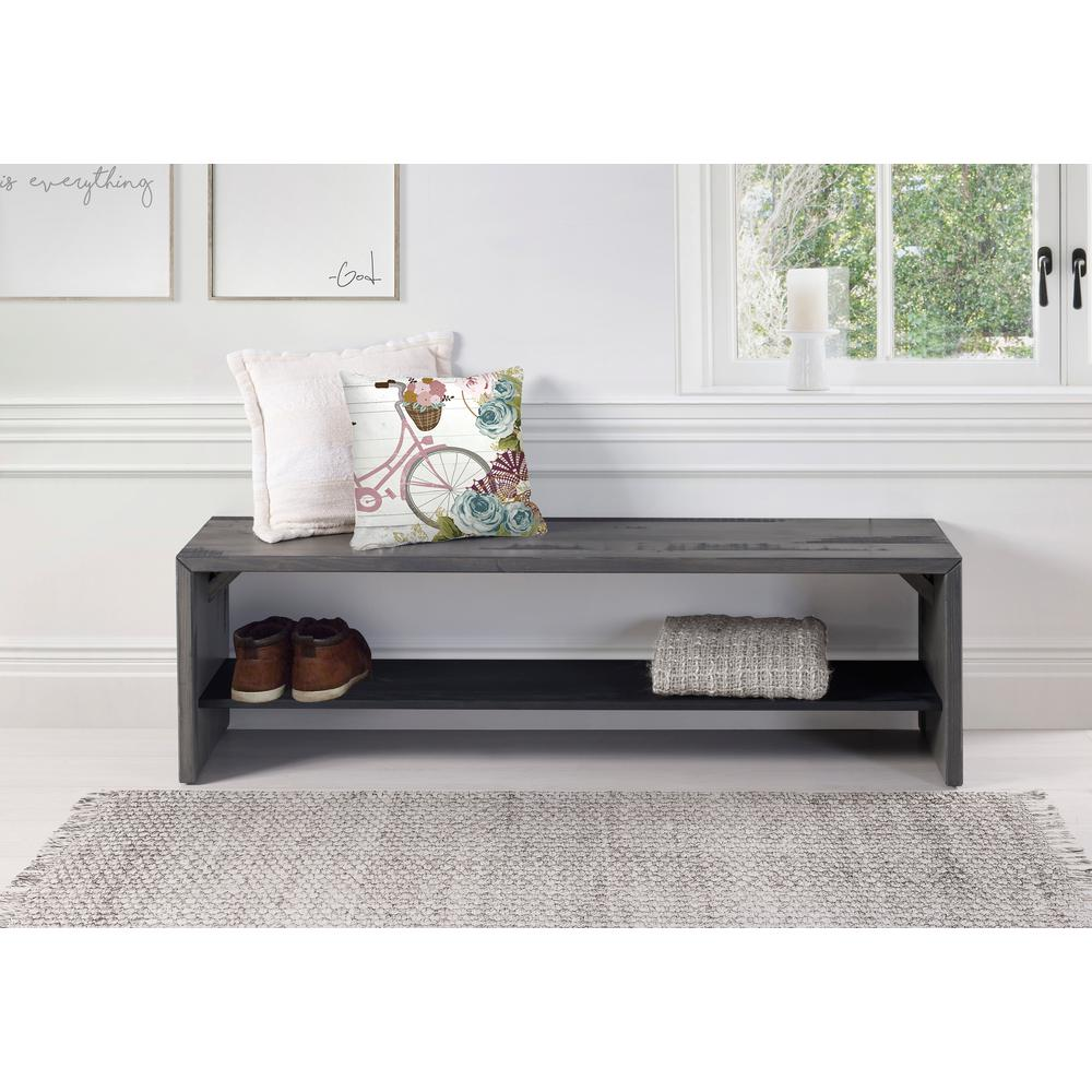 Walker edison furniture company 58 in gray solid for Furniture 500 companies