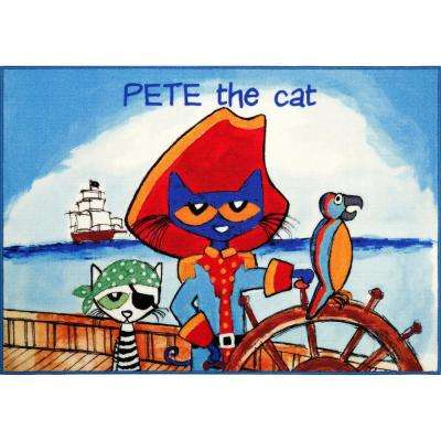 Pete The Cat Elementary Multi Pirate Pete 35.4 in. x 51 in. Indoor Area Rug