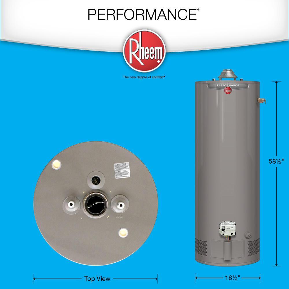 Rheem Performance 40 Gal  Tall 6 Year 32,000 BTU Liquid Propane Tank Water  Heater