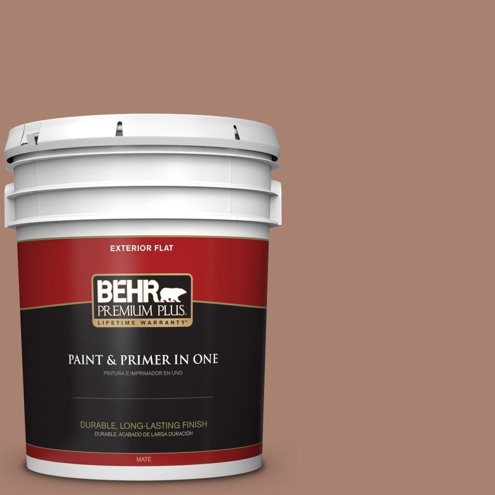 5-gal. #S190-5 Cocoa Nutmeg Flat Exterior Paint