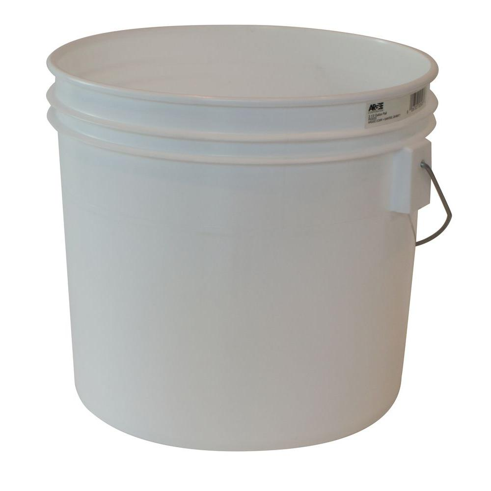 New 3 5 Gallon White Plastic Bucket W Handle 10 Pack