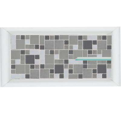Newport 24 in. x 4 in. x 12 in. Shower Niche in Natural Buff
