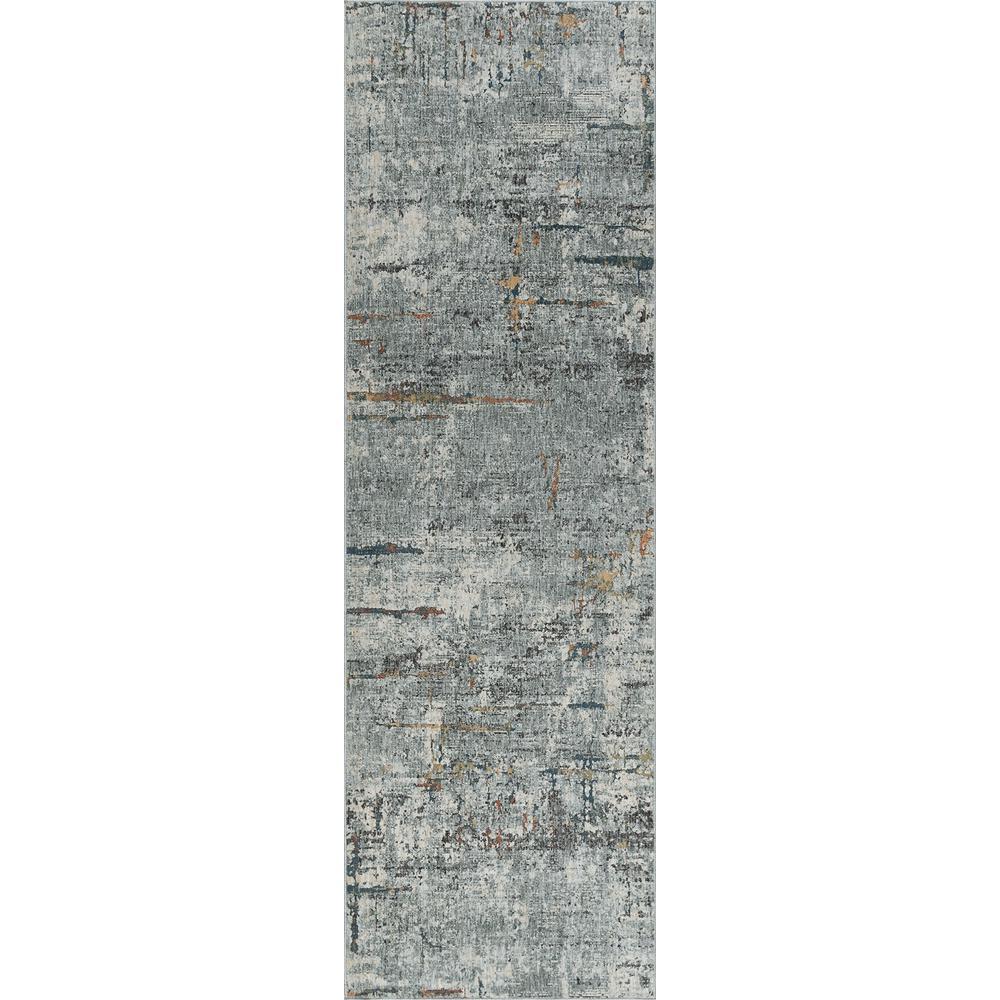 Tayse Rugs Venice Gray 2 ft. 6 in. x 10 ft. Runner Rug