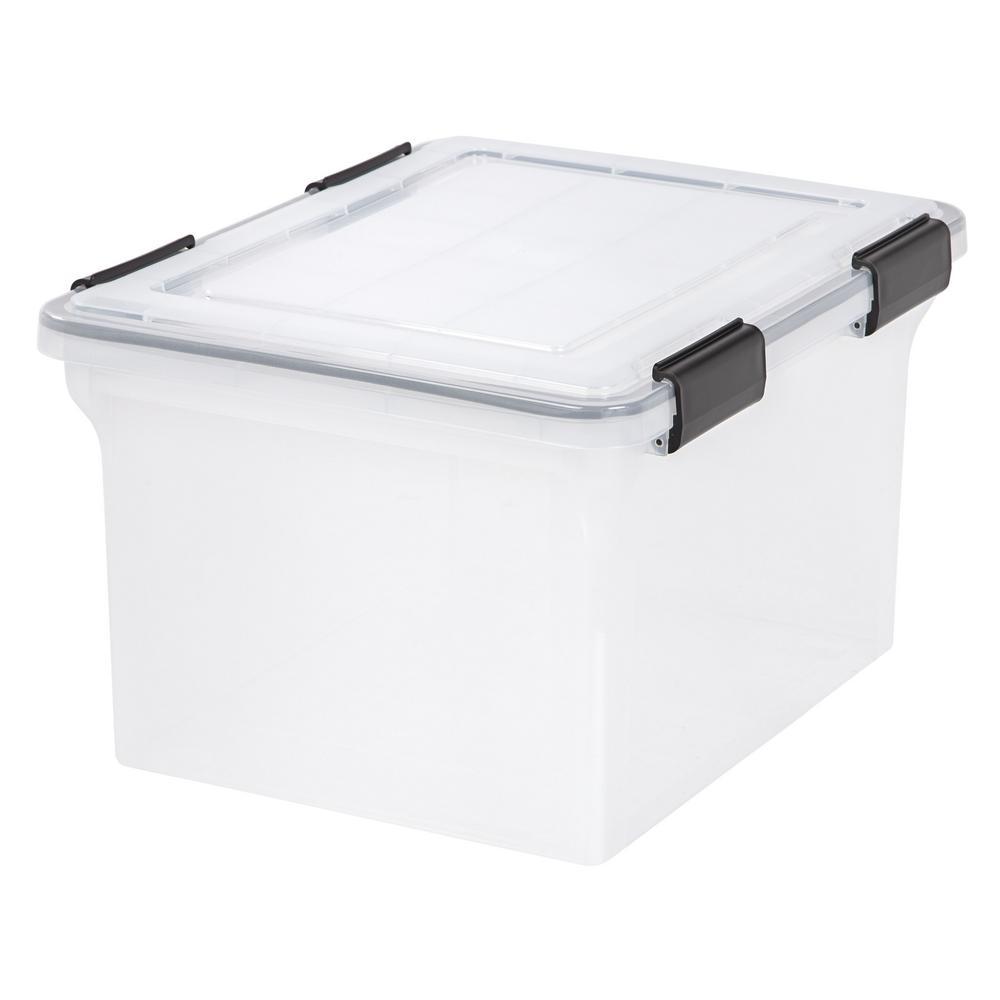 IRIS 32-Qt. Weathertight Storage Box in Clear (6-Pack)
