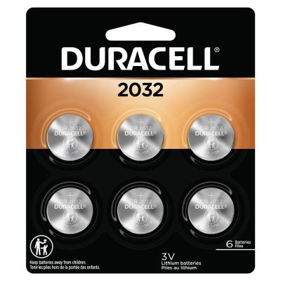 Duracell Coppertop 2032 3-Volt Lithium Coin Battery (6-Pack)