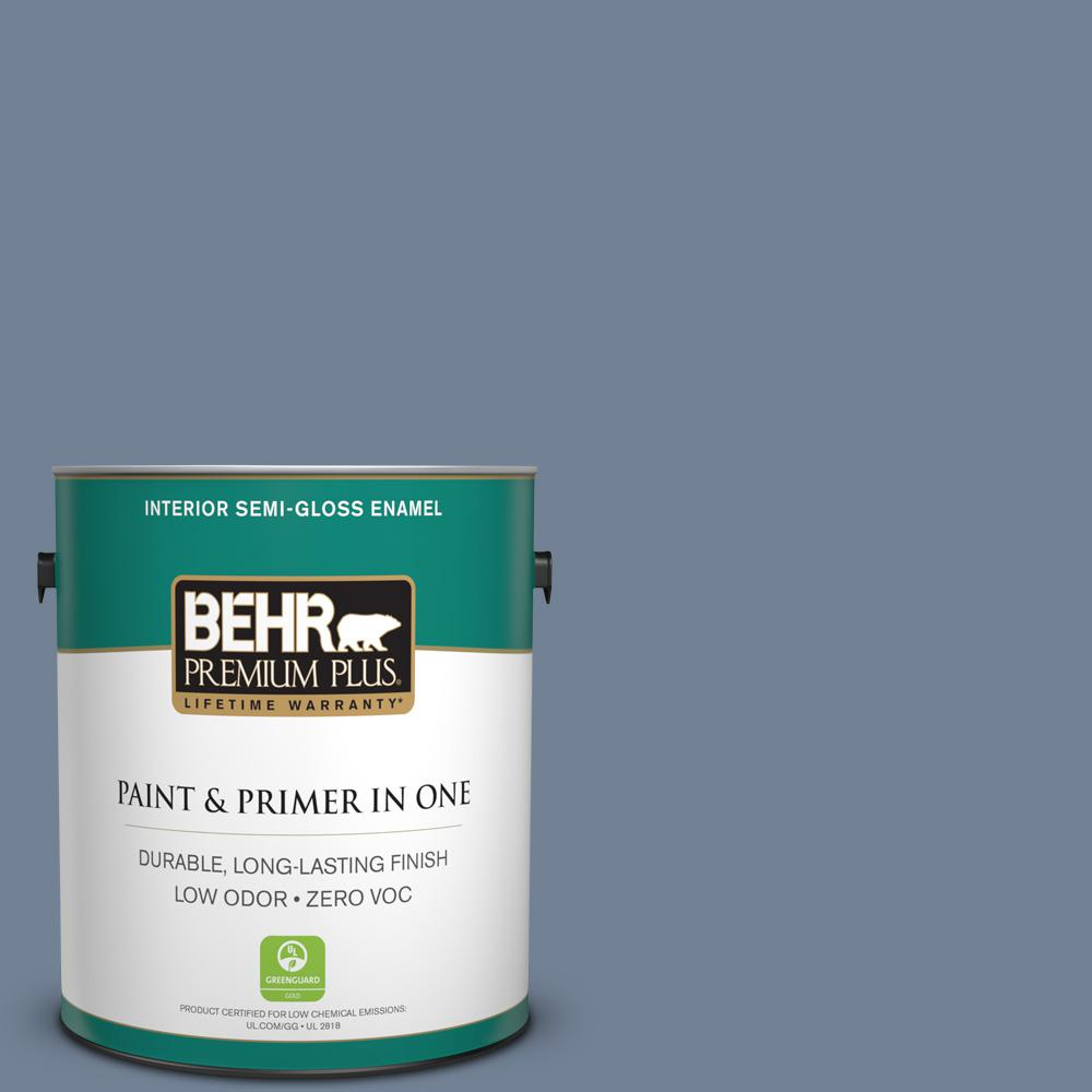 1 gal. #PPU15-07 Tranquil Pond Zero VOC Semi-Gloss Enamel Interior Paint