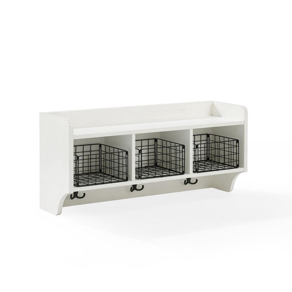 Fremont White Entryway Shelf