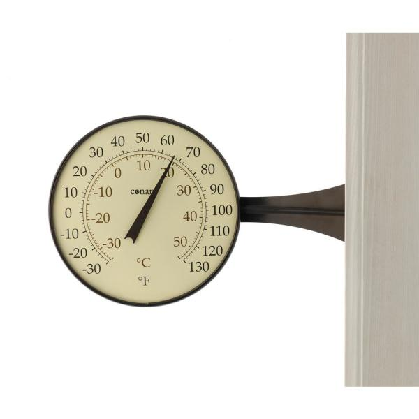 Decor Large Dial Thermometer in Bronze Patina