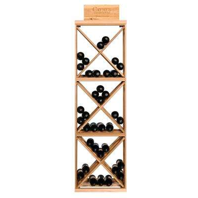 72-Bottle Pine Floor Wine Rack