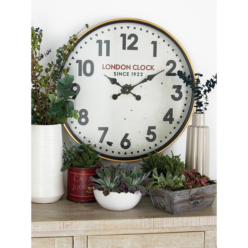 Multi-Colored London-Inspired Contemporary Analog Wall Clock
