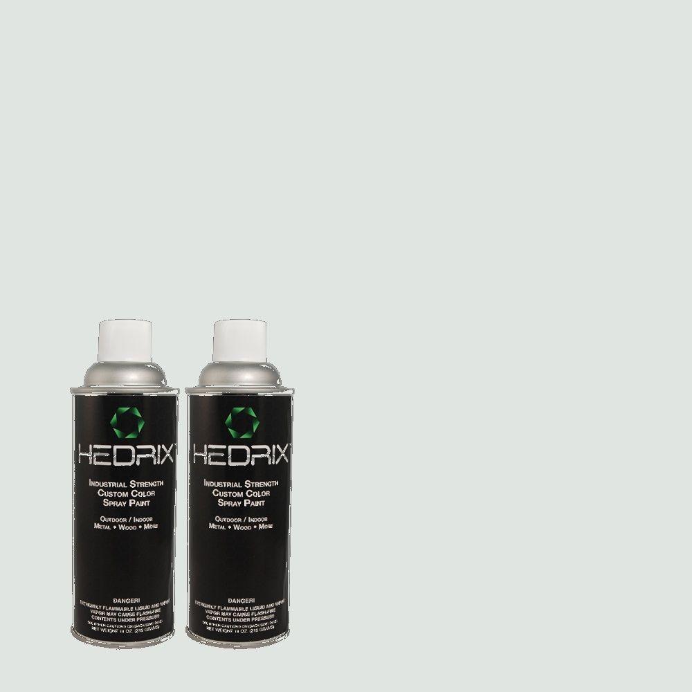 Hedrix 11 oz. Match of 8035 Blueberry Frost Semi-Gloss Custom Spray Paint (2-Pack)