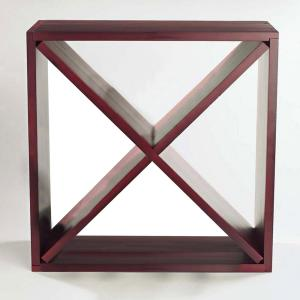 24-Bottle Compact Cellar Cube Wine Rack in Mahogany