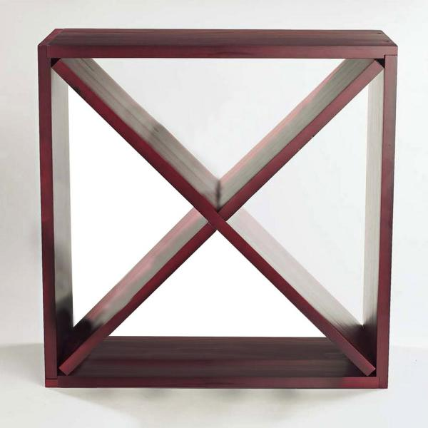 Wine Enthusiast 24-Bottle Compact Cellar Cube Wine Rack in Mahogany 640