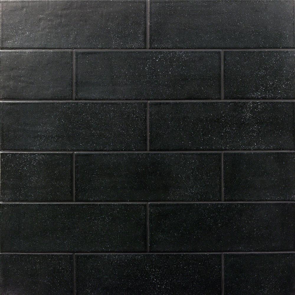 Piston Camp Black Rock 4 in. x 12 in. 7mm Matte Ceramic Subway Wall Tile (34-piece 10.97 sq. ft. / box)