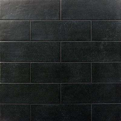 Piston Camp Black Rock 4 in. x 12 in. 7mm Matte Ceramic Subway Wall Tile (34-piece 10.97 sq. ft. / box)