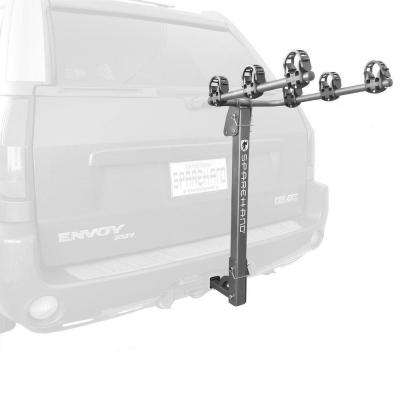 Sparehand Hitch Mounted 3-Bike Vehicle Rack for All Frame Types and Vehicles in Grey Finish
