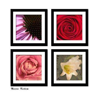 "Four 10 in. x 10 in. ""The Flowers"" by Neeva Kedem Framed Printed Wall Art"