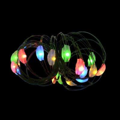 9 ft. 36-Light Battery Operated LED Multi-Color Ultra Slim Wire (Bundle of 2)