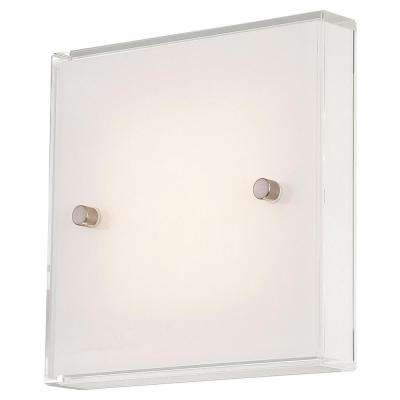 12 Watt Brushed Nickel Integrated LED Wall Sconce Part 55