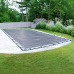 Premier 18 ft. x 40 ft. Rectangular Slate Blue Solid In-Ground Winter Pool Cover