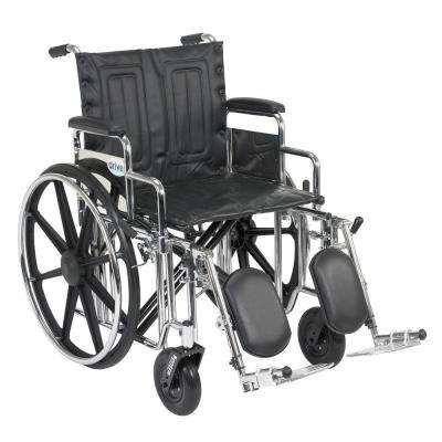 Sentra Extra Heavy Duty Wheelchair with Detachable Desk Arms and Elevating Legrest