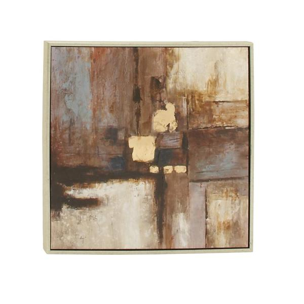 ''Abstract Color Field'' Framed Canvas Wall Art