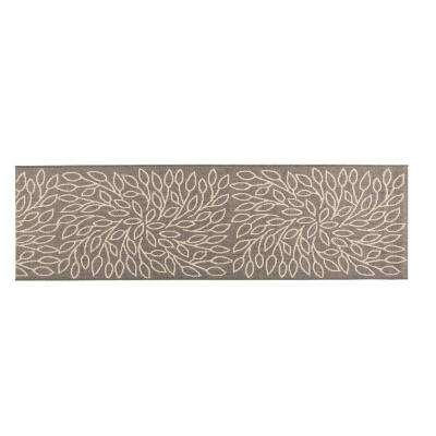 Persimmon Grey/Champagne 2 ft. x 8 ft. Indoor/Outdoor Runner Rug