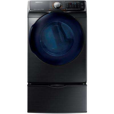 7.5 cu. ft. Gas Dryer with Steam in Black Stainless Steel, ENERGY STAR