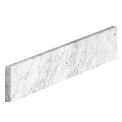18 in. Marble Sidesplash in Carrara