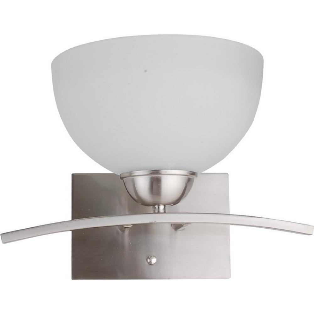 1-Light Satin Steel Wall Sconce