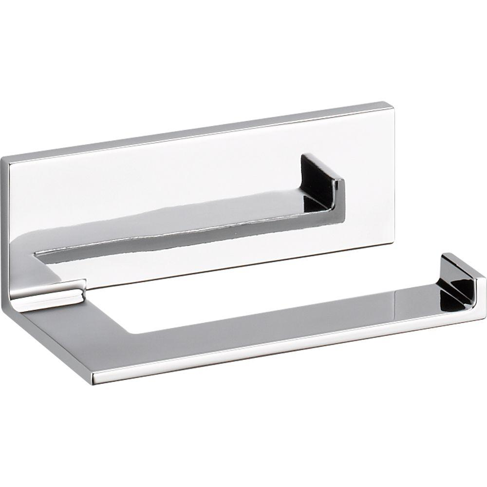 Delta Vero Single Post Toilet Paper Holder In Chrome 77750 The
