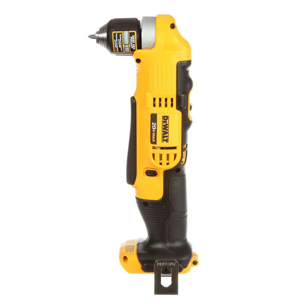20 Volt Max Lithium Ion Cordless 3 8 In Right Angle Drill Tool Only