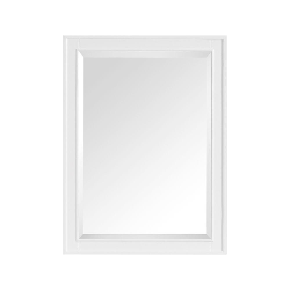 Avanity Madison 24 in. W x 32 in. H Single Framed Mirror in White