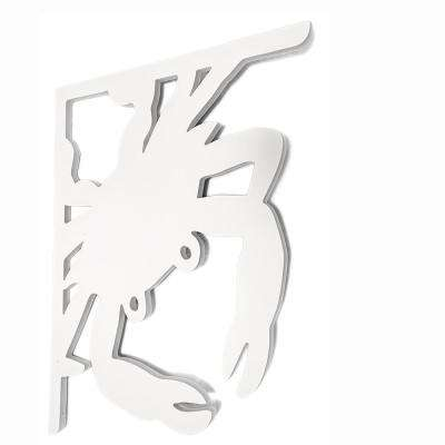 Decorative 16 in. PVC Crab Mailbox or Porch Bracket