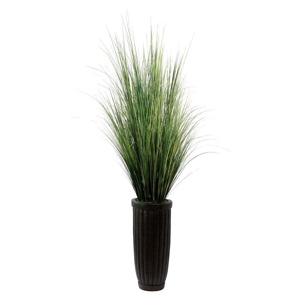 Laura ashley 7 ft tall high end realistic silk grass floor plant tall high end realistic silk grass floor plant with contemporary planter workwithnaturefo