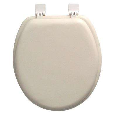 Ginsey Round Closed Front Soft Toilet Seat in Champagne Ivory