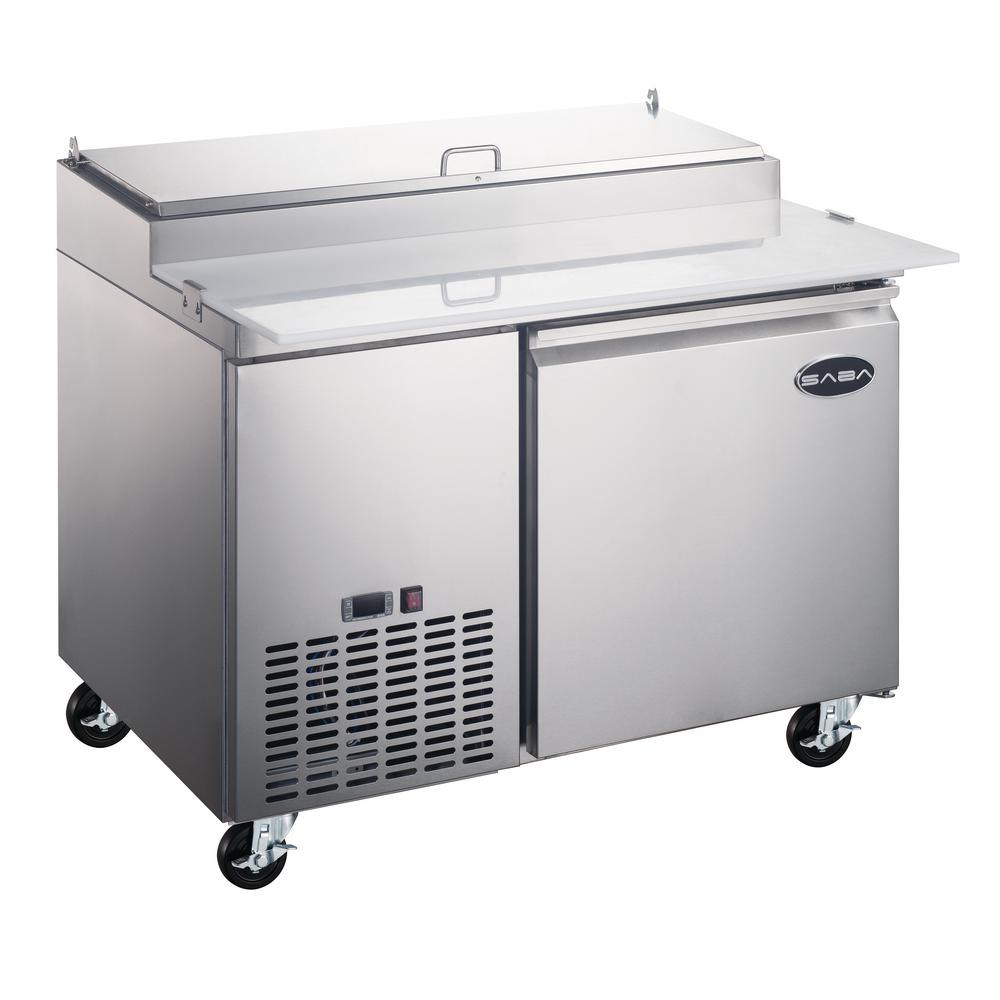 44.5 in. W 13 cu. ft. Commercial Pizza Food Prep Table