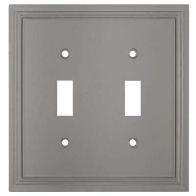 Hallcrest Cast 2-Toggle Wall Plate, Gray