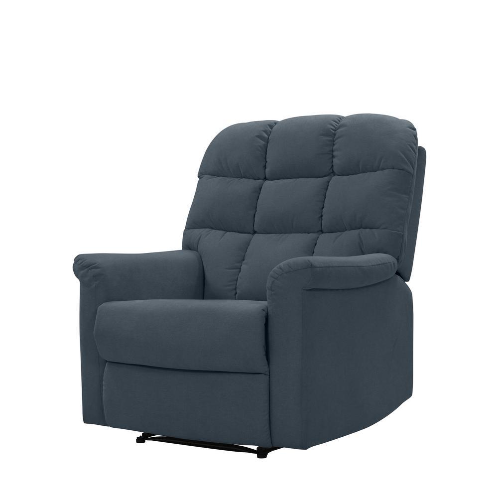 Incredible Prolounger Caribbean Blue Plush Low Pile Velvet Tufted Back Ibusinesslaw Wood Chair Design Ideas Ibusinesslaworg