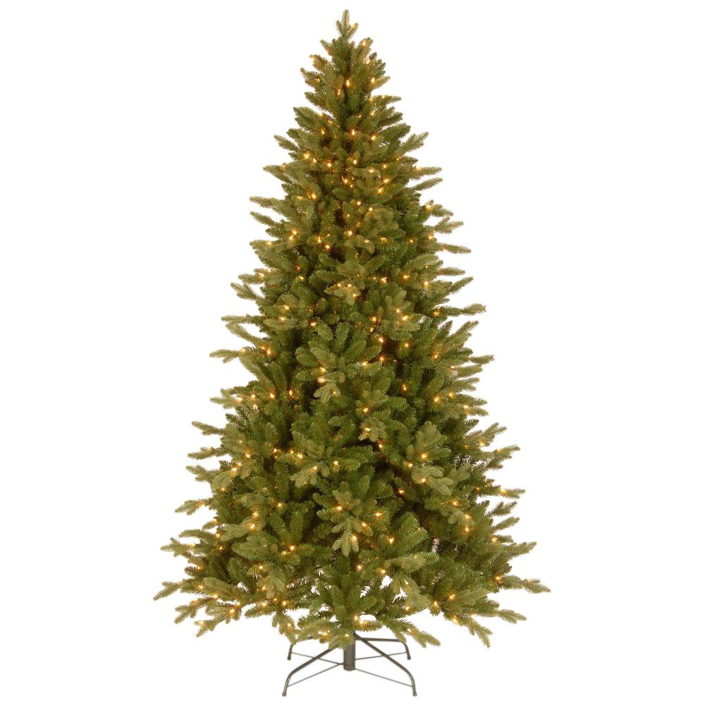 National Tree Company 7 1 2 Ft Feel Real In Avalon Spruce Hinged Artificial Christmas Tree With 500 Clear Lights