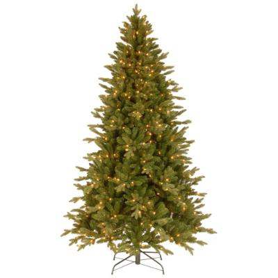 7-1/2 ft. Feel Real in Avalon Spruce Hinged Artificial Christmas Tree with 500 Clear Lights
