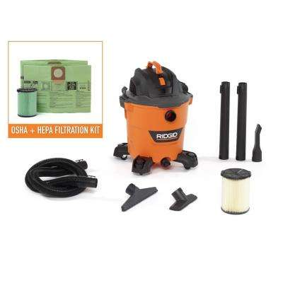 12 Gal. 5.0-Peak HP NXT Wet/Dry Vac with OSHA and HEPA Filtration Kit